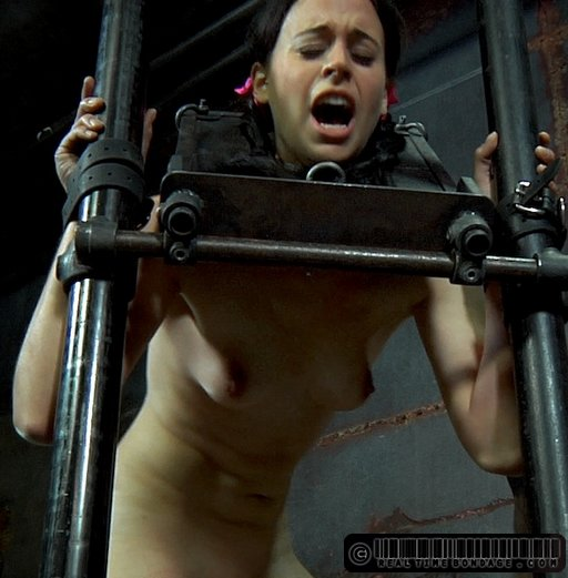 pain face from a hard caning
