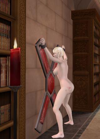 spanked schoolgirl in bondage