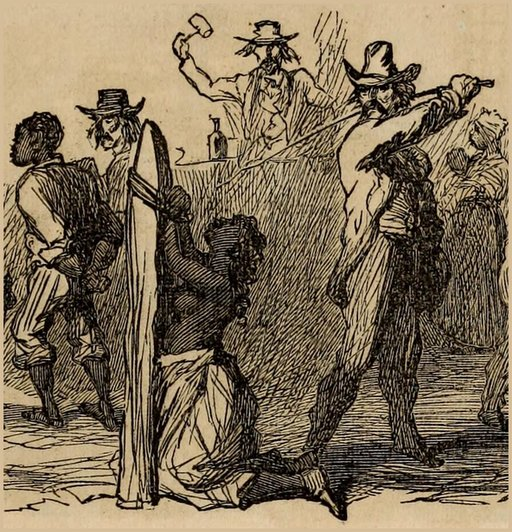 abolitionist view of a slave whipping
