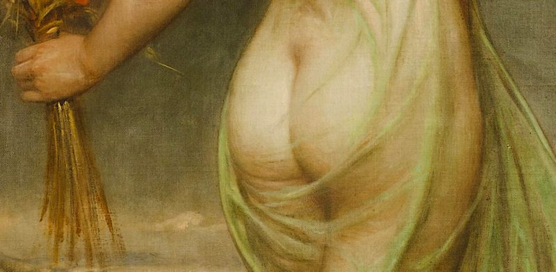 bottom fetish suggestive of spanking art from Allegory of Summer by Franz Doubek