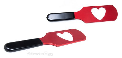 paddle for leaving a heart-shaped welt