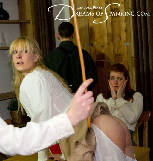 Caroline Grey looks dismayed as Amelia is punished