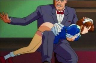 pretty maid getting a spanking