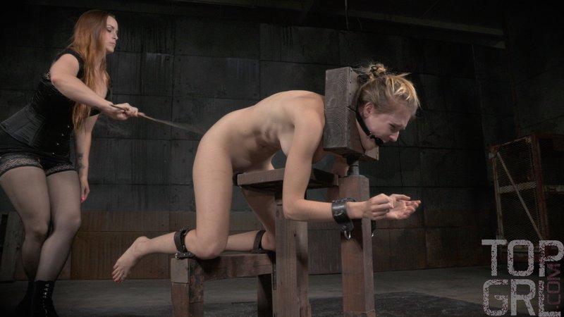 hard bondage caning