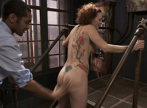 Audrey Hollander\'s spanking begins!