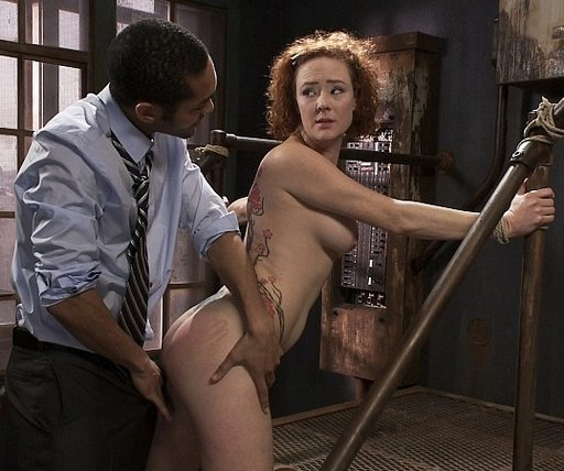 Vivid spanking handprint on Audrey Hollander\'s ass