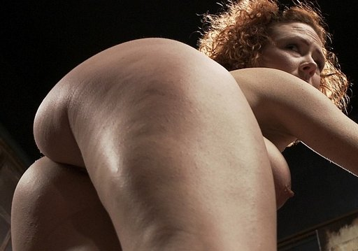the well-spanked bottom of Audrey Hollander