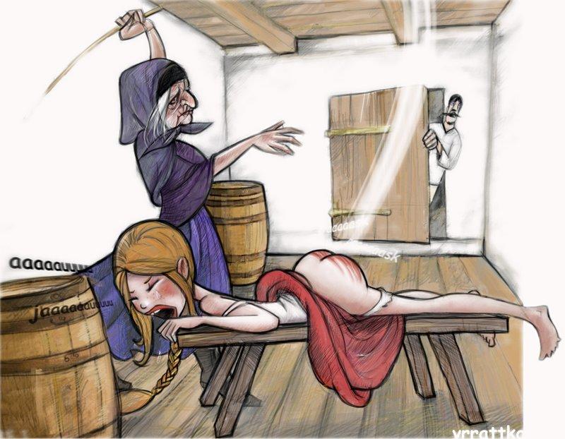 spanking bench switching art