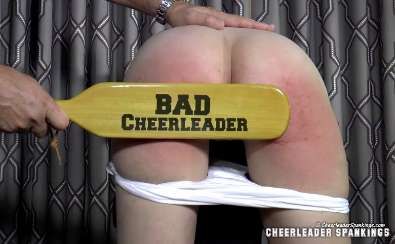 wooden paddle punishment for a bad cheerleader