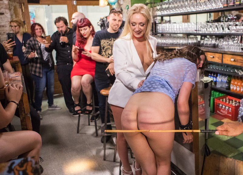 her public caning humiliation continues