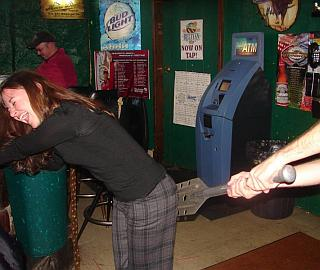 girl getting spanked in a bar