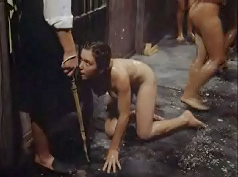 crawling for a sadistic lesbian prison guard with a whip