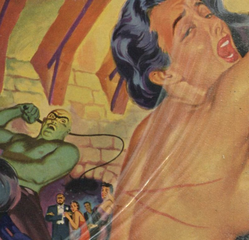 whipping a baroness pulp novel lurid cover