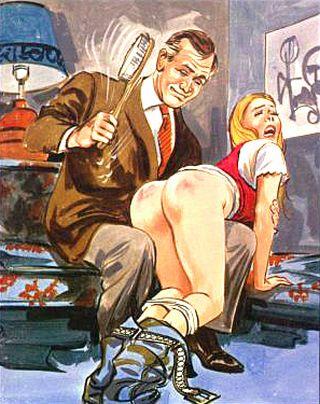 otk bath brush spanking art