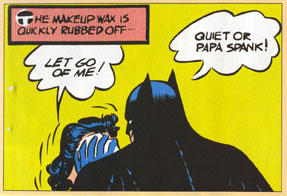 Batman threatens to give a spanking