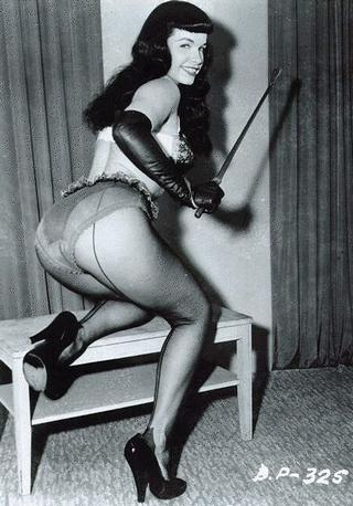 betty page showing her spankable bottom