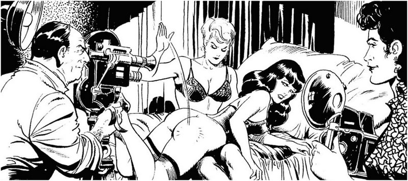 betty page kinky spanking art
