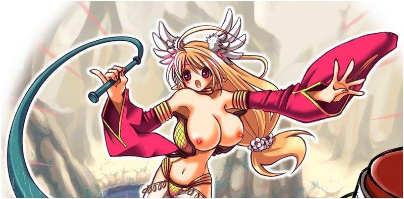elf princess swinging a big whip