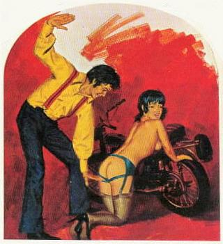 spanked by bikers