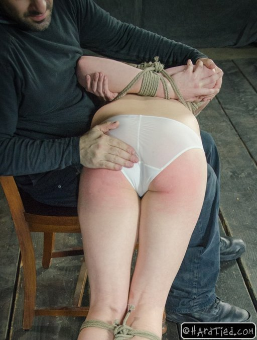 Tracey Sweet getting a bondage spanking