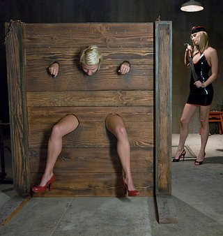 locked in the bondage wall