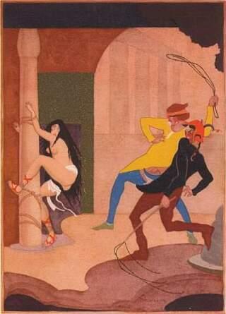 slave girl whipping illustration