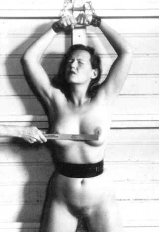 bondage and spanked boobs