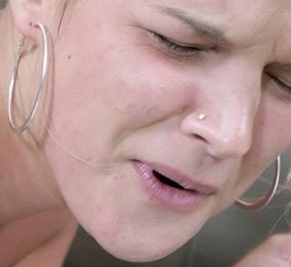 girl can feel her spanking