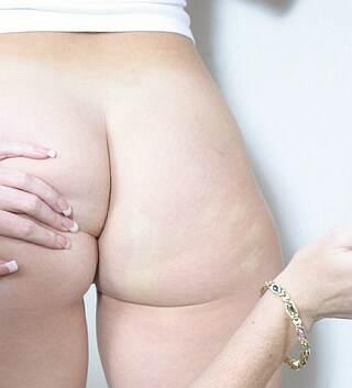 prison spanking handprint