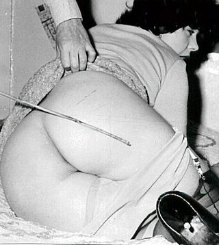 caned japanese woman vintage photo