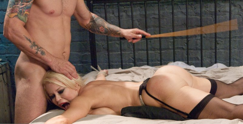 caning her ass before he fucks her in it