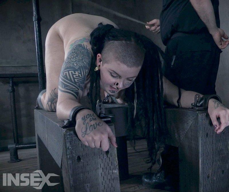 luna lavey shackled and caned