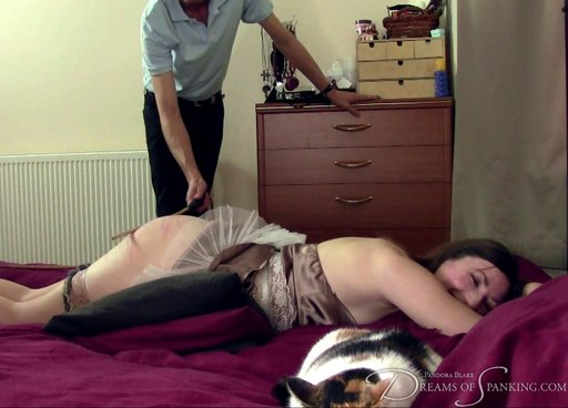 pandora asks for a caning and it makes her giggle