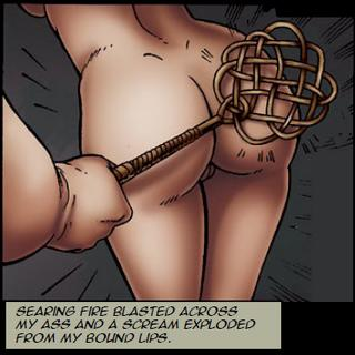 tied up and spanked with a carpet beater