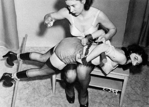 bondage spanking, vintage photo