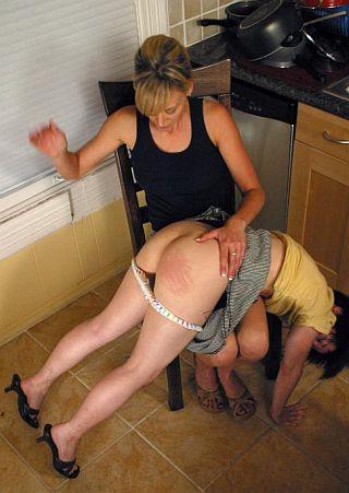 lesbian kitchen spanking