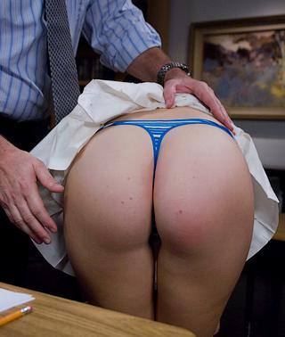 ruler and hand spanking for cheating school girl