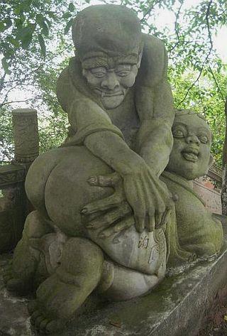 chinese spanking statue