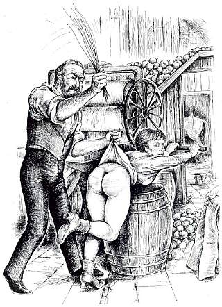 cider press spanking