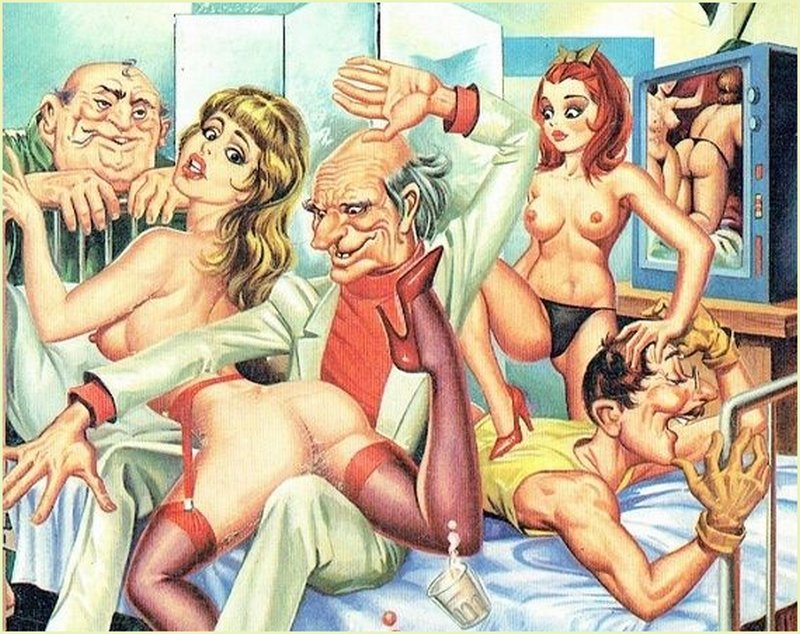 orgy and spanking party at Clinica Eros