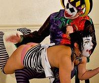 otk clown spanking