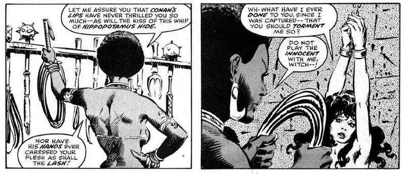 whipping threat comic book panels
