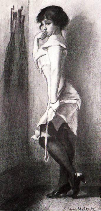 vintage spanking art