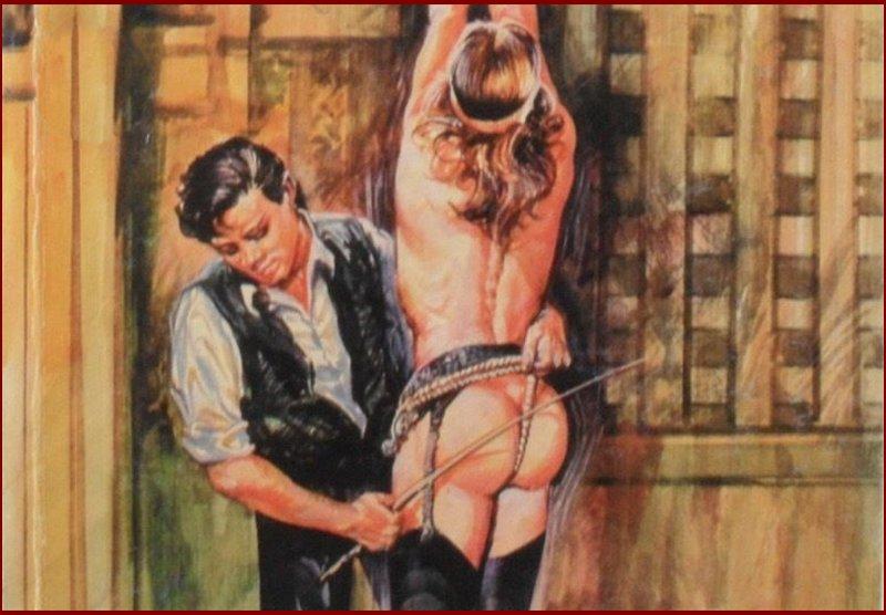 fumetti bondage caning art