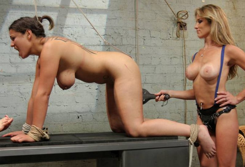 dana fox spanked with a butt hook inserted and tied to her hair to keep her from wiggling