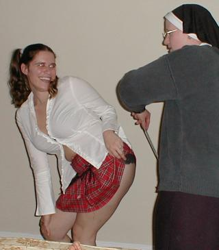 party spanking nun and schoolgirl