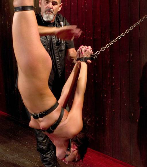 suspended for a bondage spanking