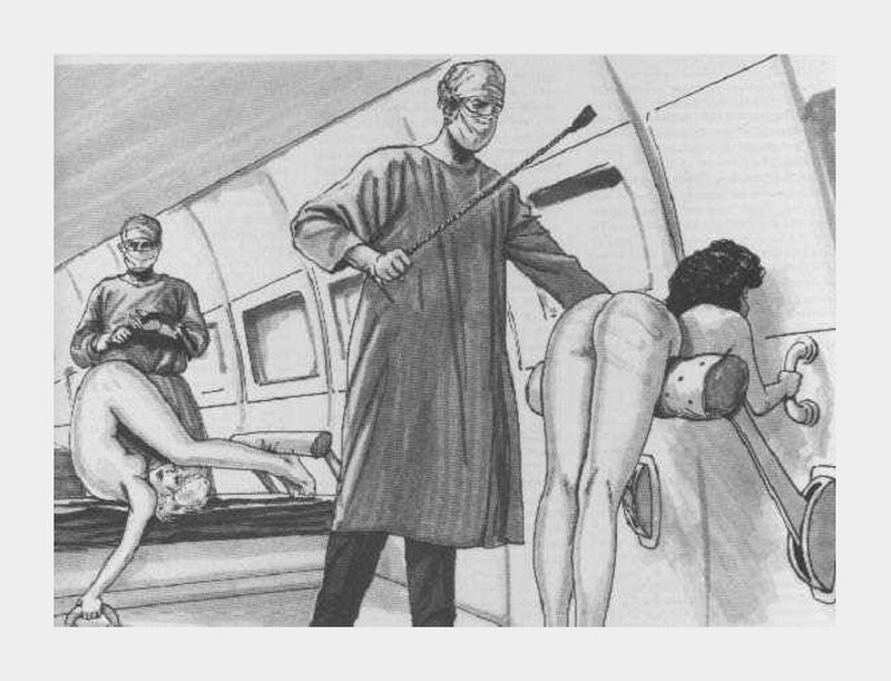 spanked on a medical evacuation dirigible