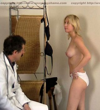 ass doctor tells patient to strip