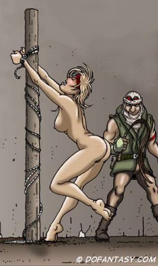 whipping post slavegirls art by Gary Roberts